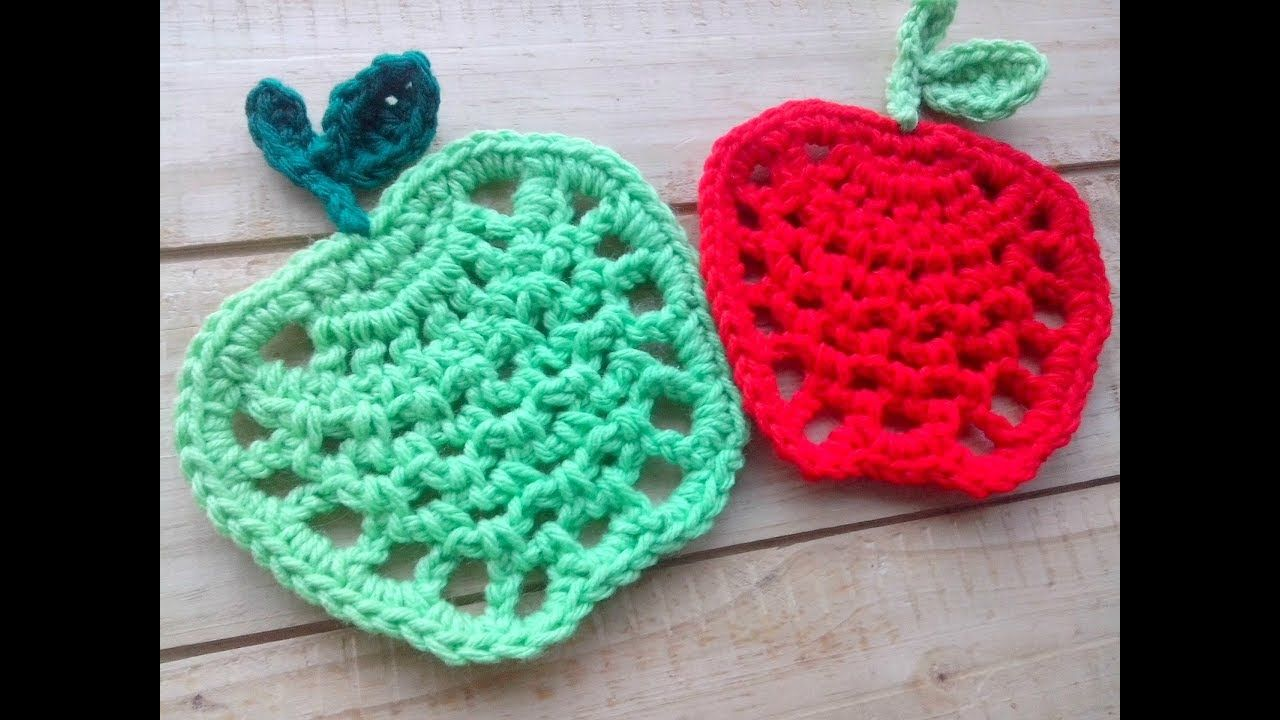 Manzana tejida a crochet - Paso a paso | croché | Pinterest ...