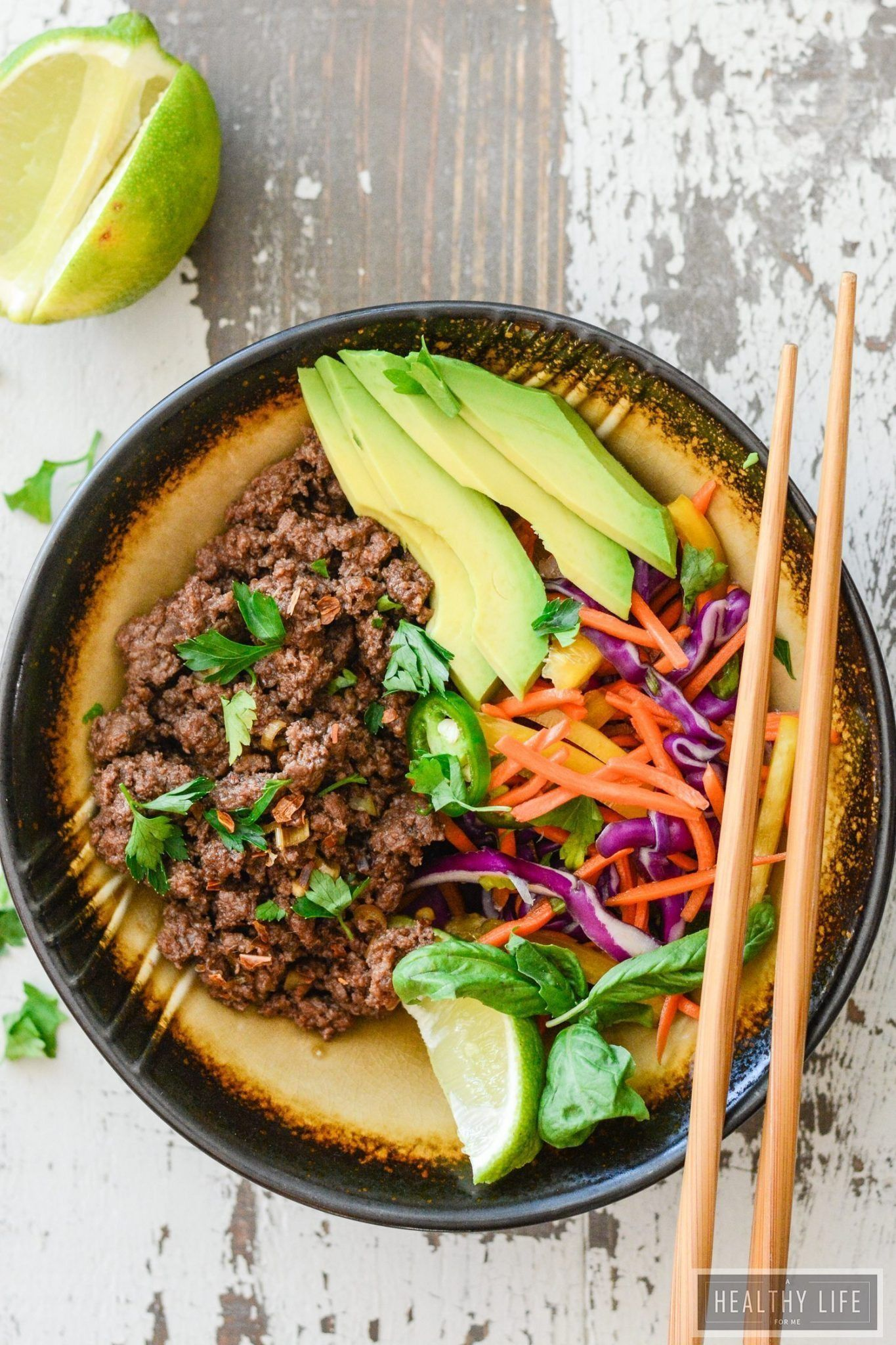 Asian beef rainbow salad a healthy life for me recipe