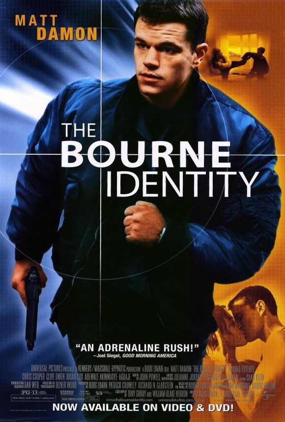 the bourne identity 2002 movie poster 27x40 used matt damon damon rh pinterest com