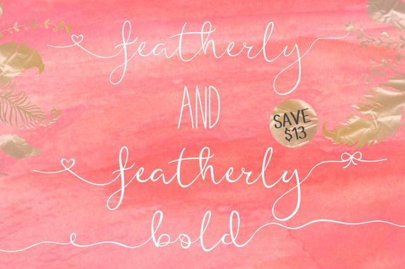 Featherly font family by joanne marie on creativework fonts