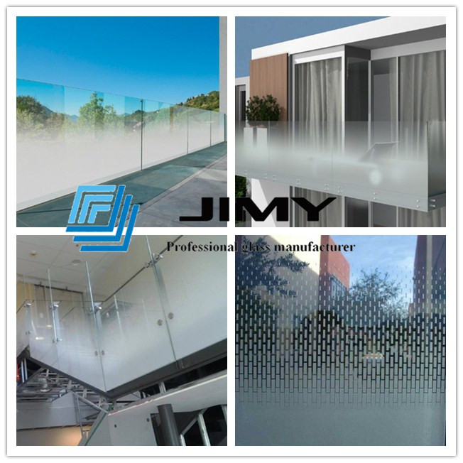 17 52mm Colored Balustrade Laminated Glass 8 8 Pvb Gradient Color Printed Railing Glass Bespoke Safety Glass Balc Laminated Glass Glass Suppliers Glass Balcony