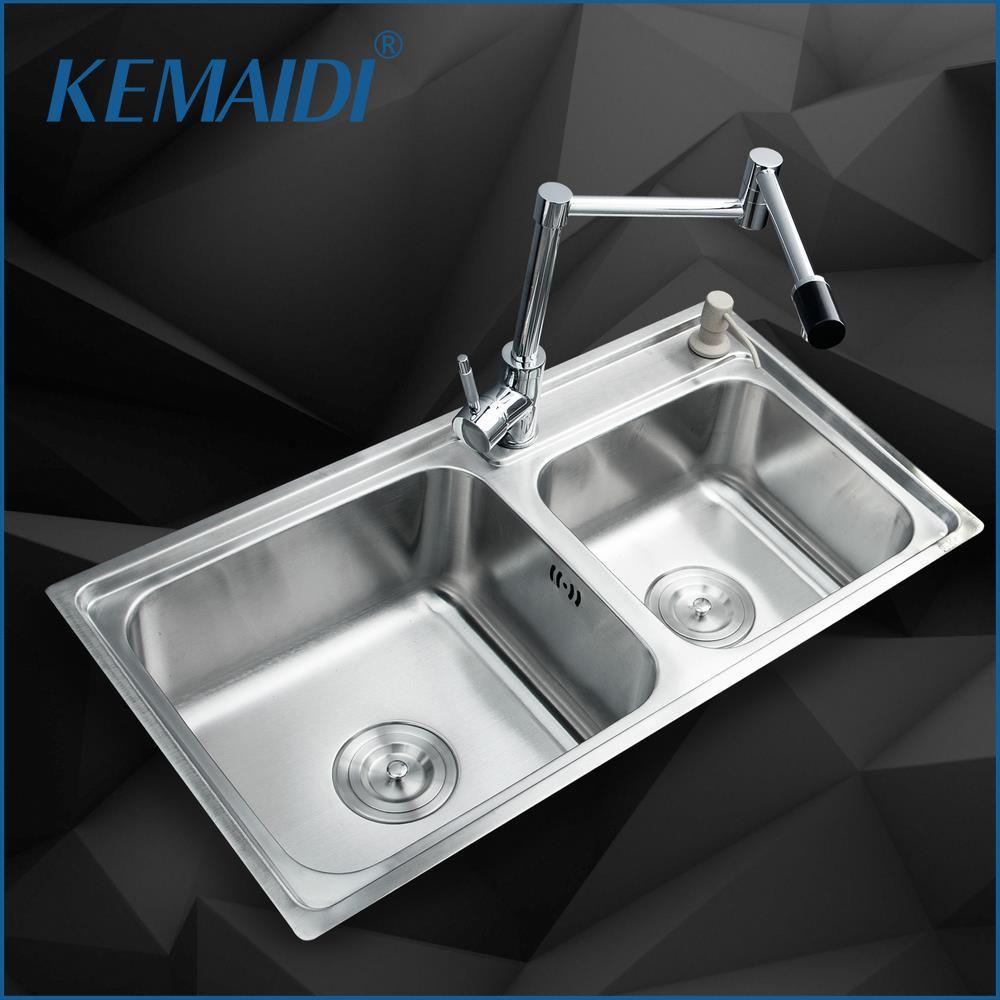 KEMAIDI Kitchen Stainless Steel Sink Vessel Kitchen