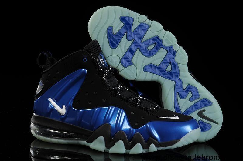 New Nike Barkley Posite Max Black Royal blue Shoes Store