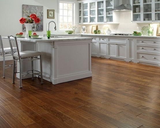 waterproof wood flooring in kitchen with white kitchen island rh pinterest com