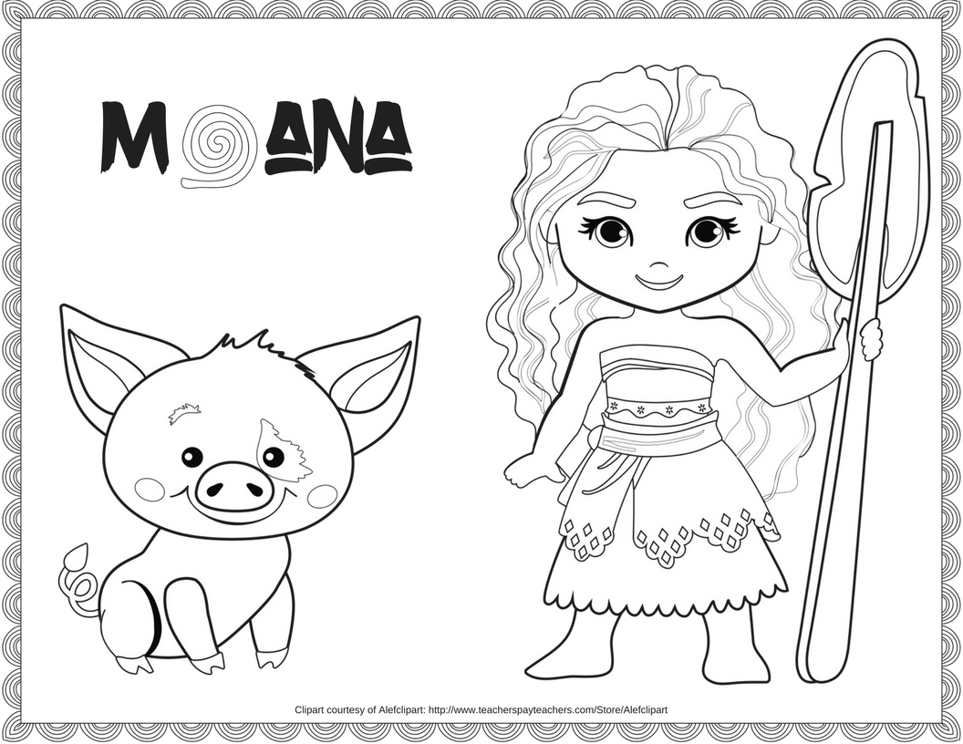 Exclusive Free Disney Moana Coloring Printable