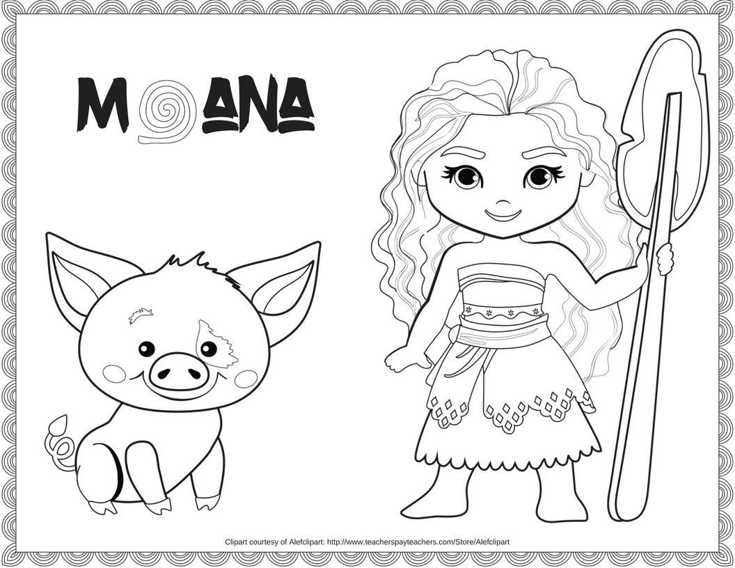 Exclusive Free Disney Moana Coloring Printable