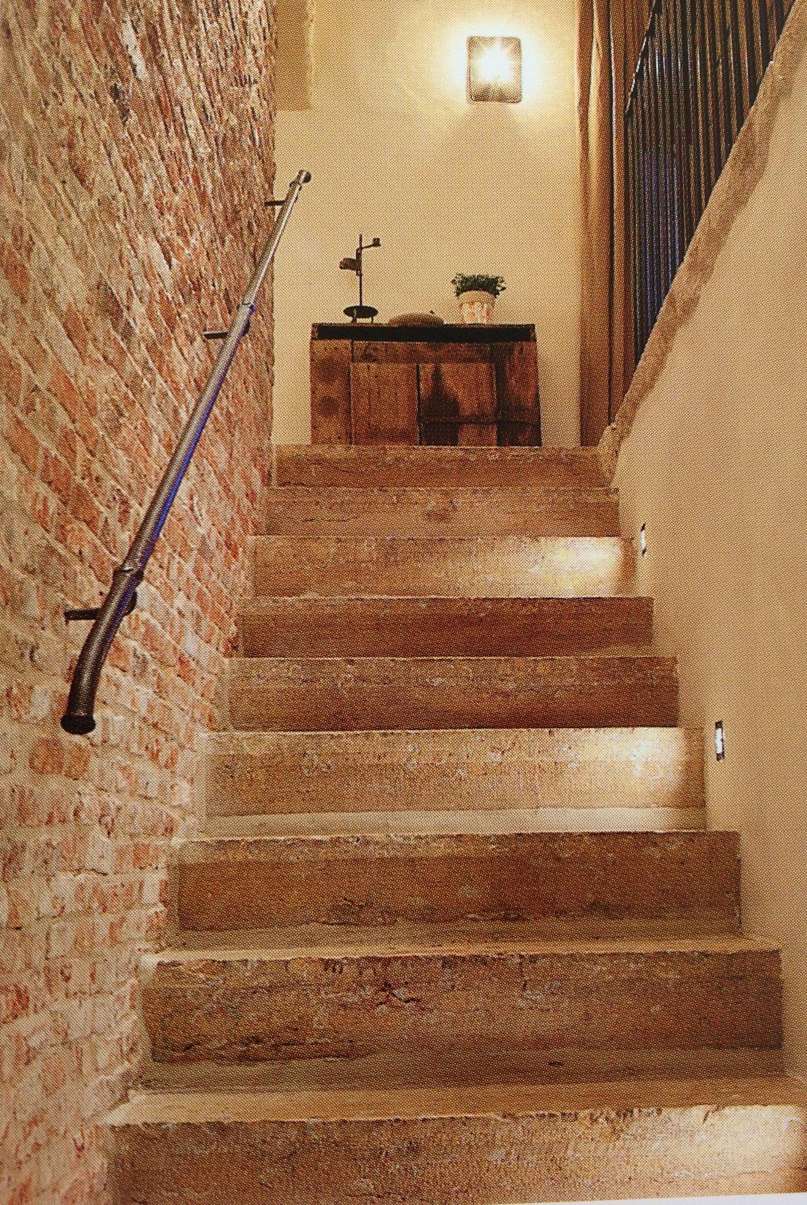 Beta Plus Stone Stairway Brick Wall Simple Iron Stair Rail Interior Details In 2019 | Installing Railing On Stone Steps
