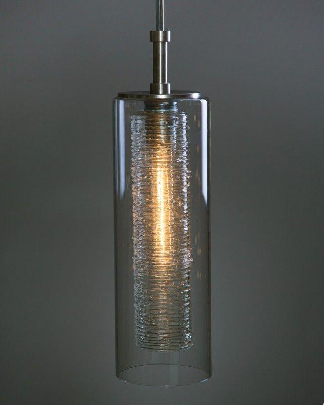 Nava New Item Shakuff Cylinder Lights Blown Glass Pendant