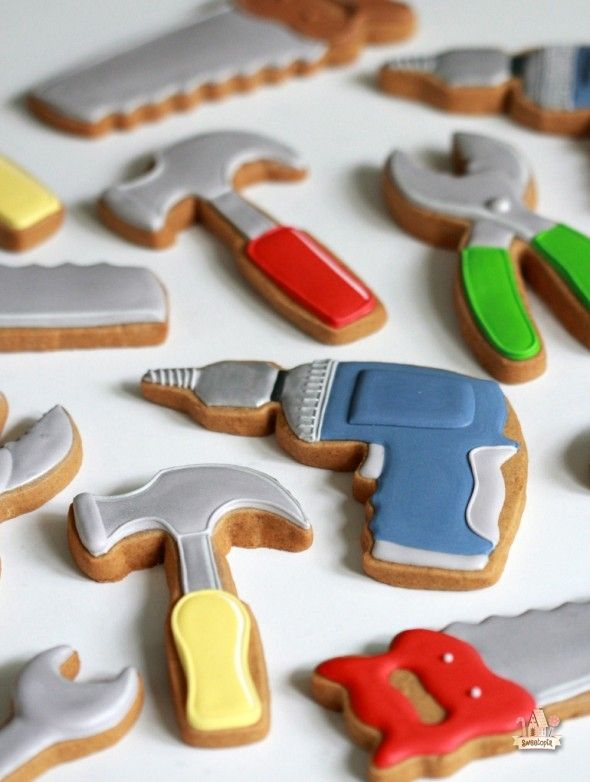 Father's Day Toolbox Cookies (How-To and Recipes) | Sweetopia