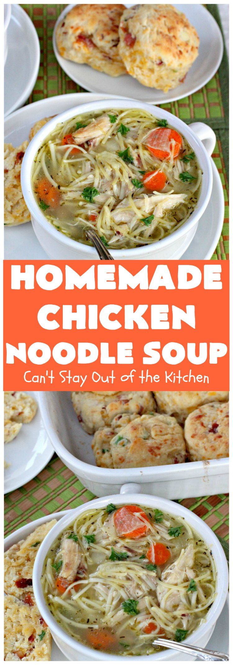 Homemade Chicken Noodle Soup Recipe Soups Soup Recipes Soup