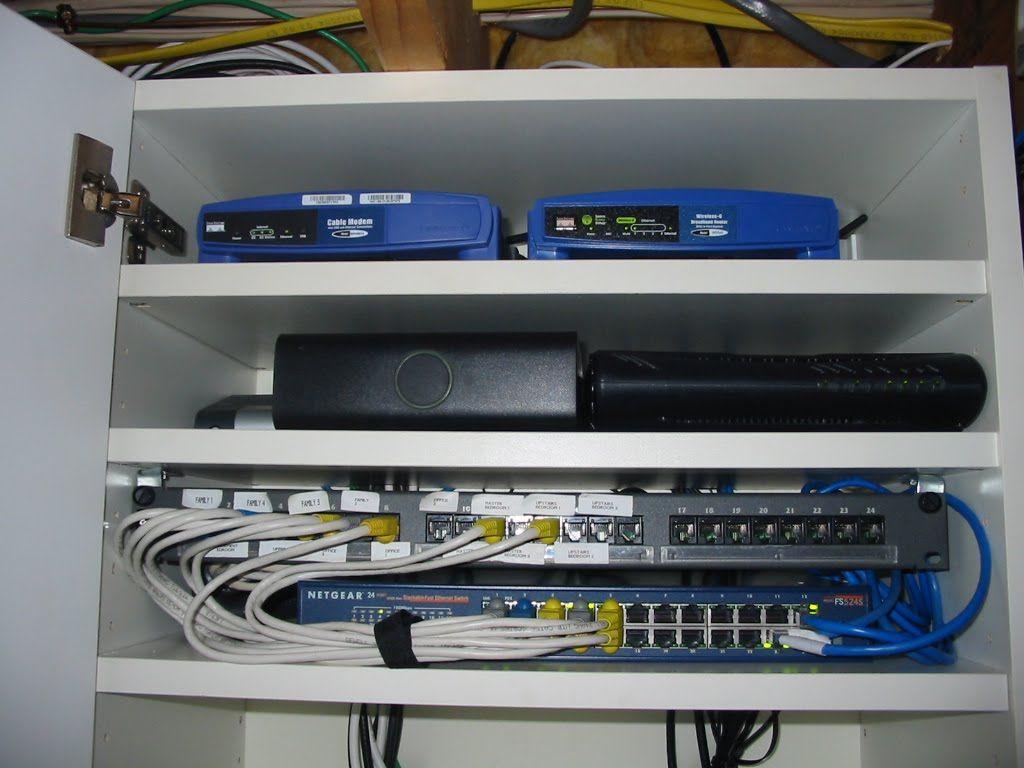 computer equipment cabinet house ideas pinterest network rack rh pinterest com