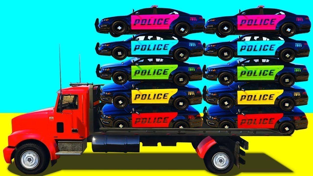 Police Car Transportation Learn Color W Spiderman Nursery Rhymes For Kids Kids Nursery Rhymes Rhymes For Kids Learning Colors