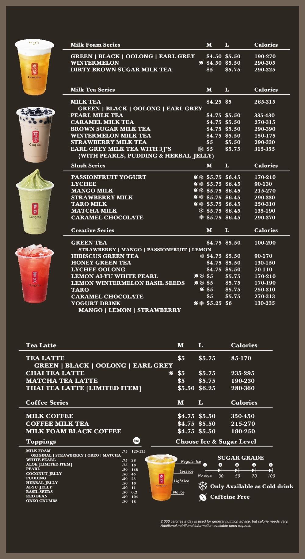 Bubble Tea Selection Gong Cha Usa Gong Cha Usa Bubble Tea Menu Bubble Tea Shop Boba Tea Recipe