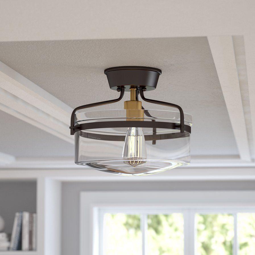 rhinebeck 1 light semi flush mount home decor light fixtures rh pinterest com