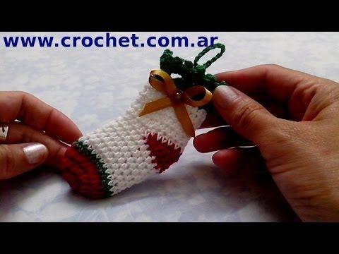 Amigurumis Navidad Paso A Paso : Medias de navidad en tejido crochet tutorial paso a paso
