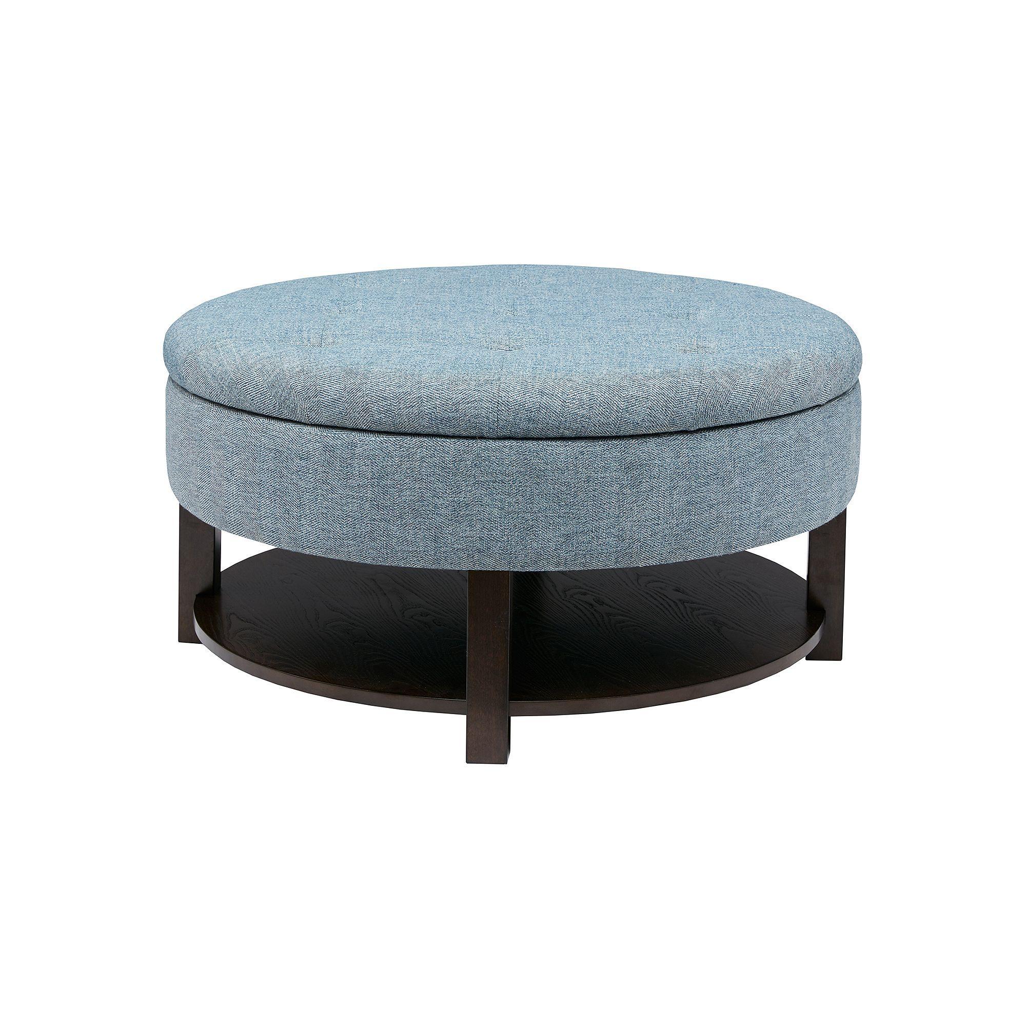 Stupendous Madison Park Round Storage Ottoman Products In 2019 Machost Co Dining Chair Design Ideas Machostcouk