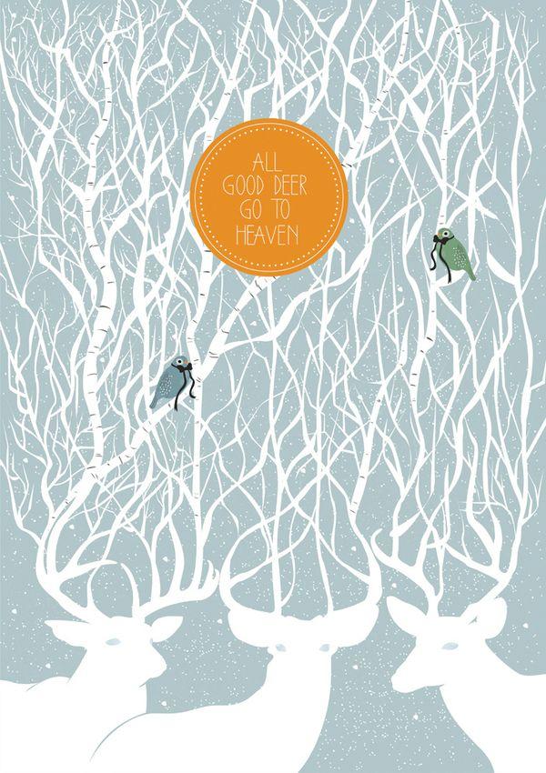 All Good Deer Go to Heaven by Corina Nika, via Behance