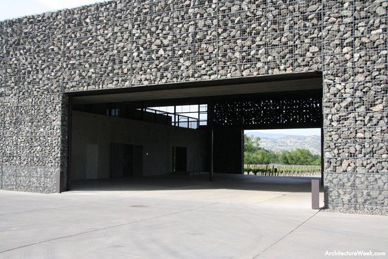 Gabion Wall Design Drawings : Architecture beautiful winery project by one of my