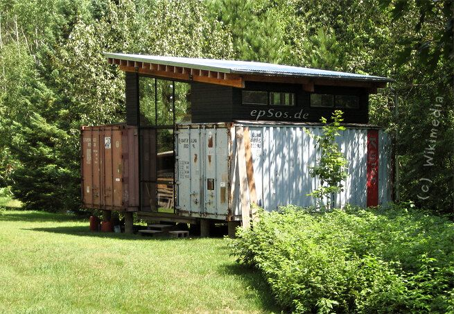Shipping Container House Ideas simple container home on stilts | shipping container | pinterest