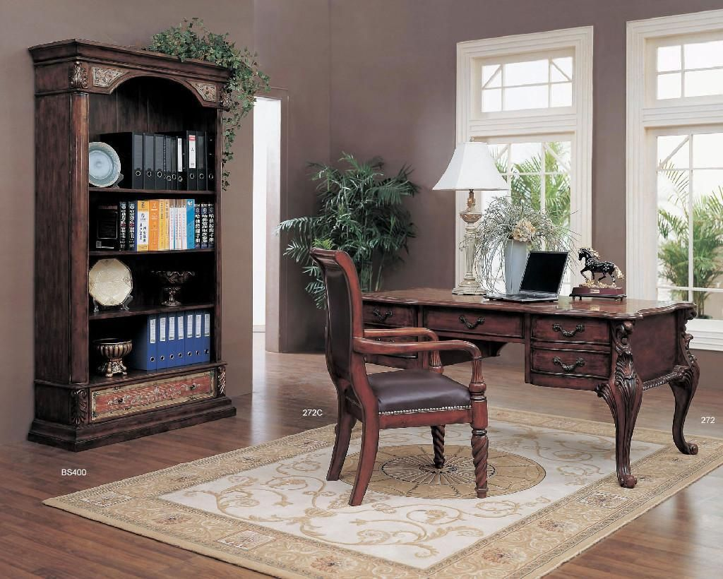 Office Workspace Classic Home Office Design With Traditional Teak