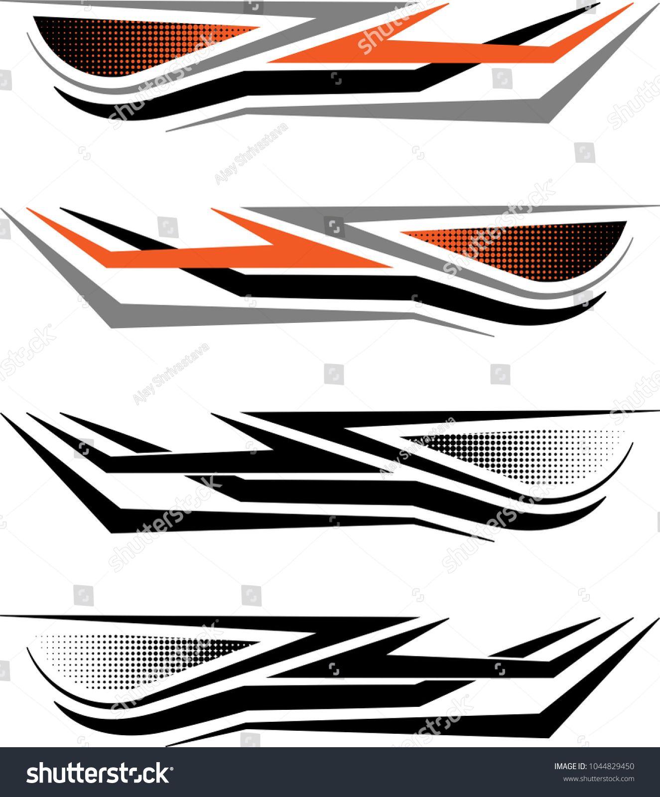Vehicle Graphics, Stripe Vinyl Ready Vector Art Stiker