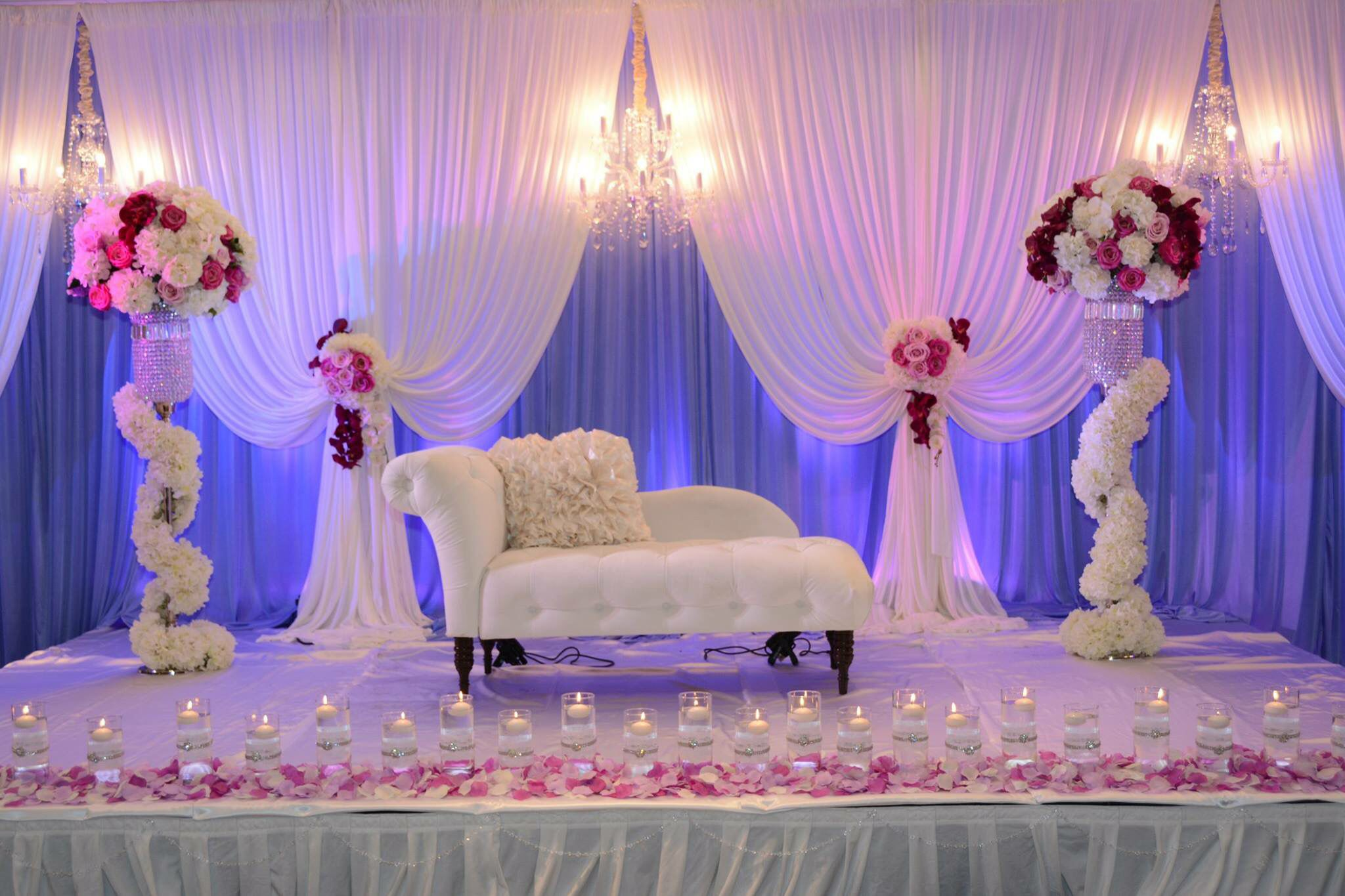 wedding stage decoration pics%0A Just love the colors   A Design Events Lexington KY    Arab WeddingWedding  StageDecor