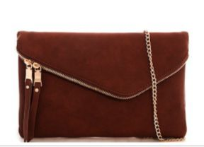 Foldover Chic Clutch with Chain