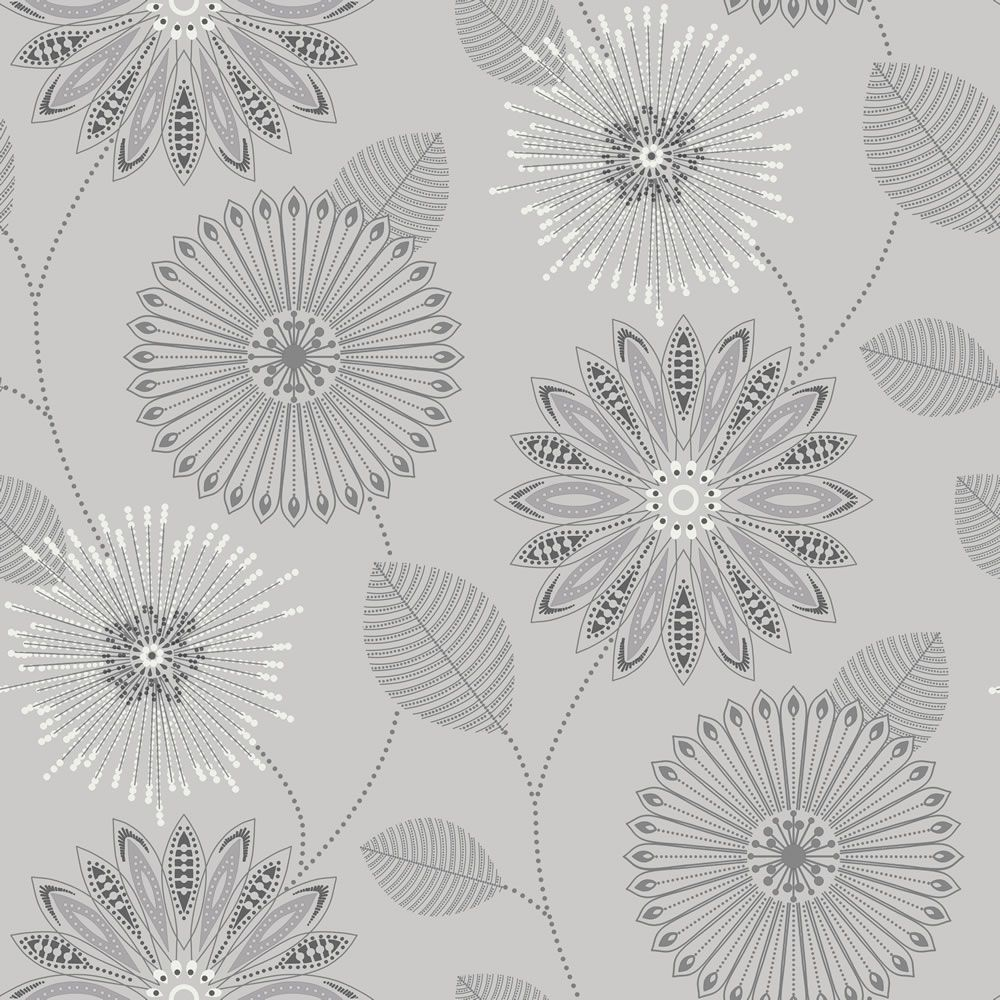Wilko Bewitched Silver Wallpaper Silver wallpaper, Black