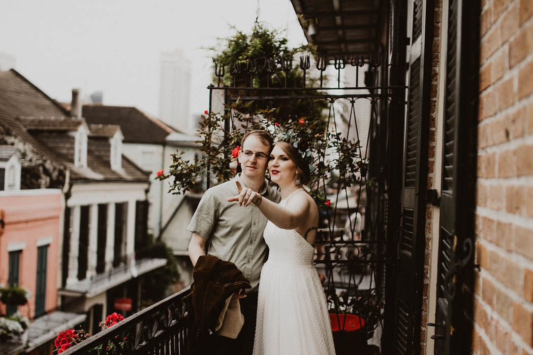 Stylish New Orleans Elopement At The French Quarter Wedding Chapel Junebug Weddings