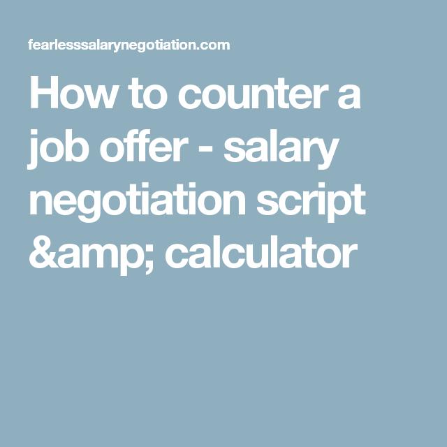 job offer salary negotiation