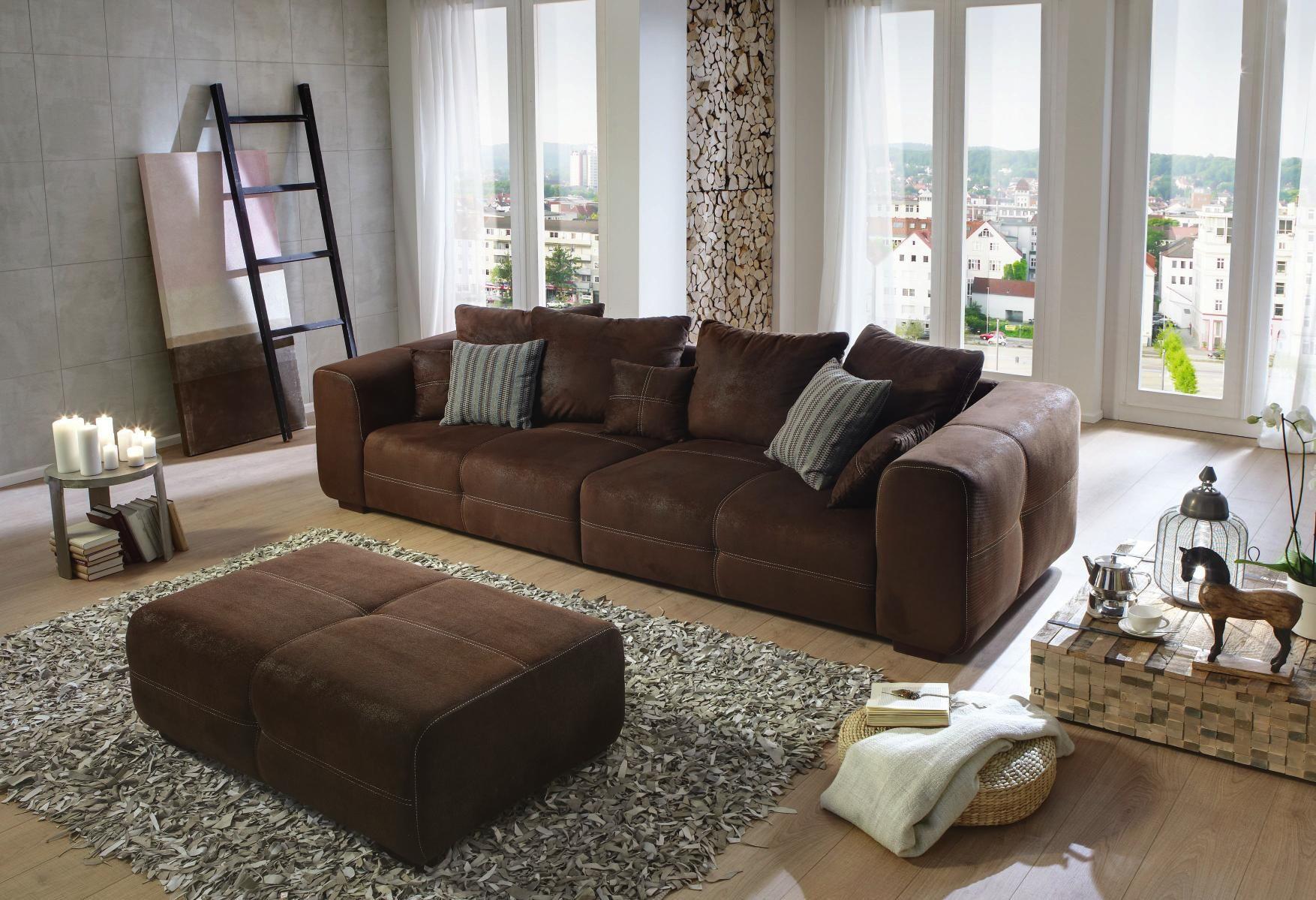 Carry Home Bigsofa In Braun Textil   Wohnlandschaften   Pinterest Wohnzimmer Vintage Style Braun