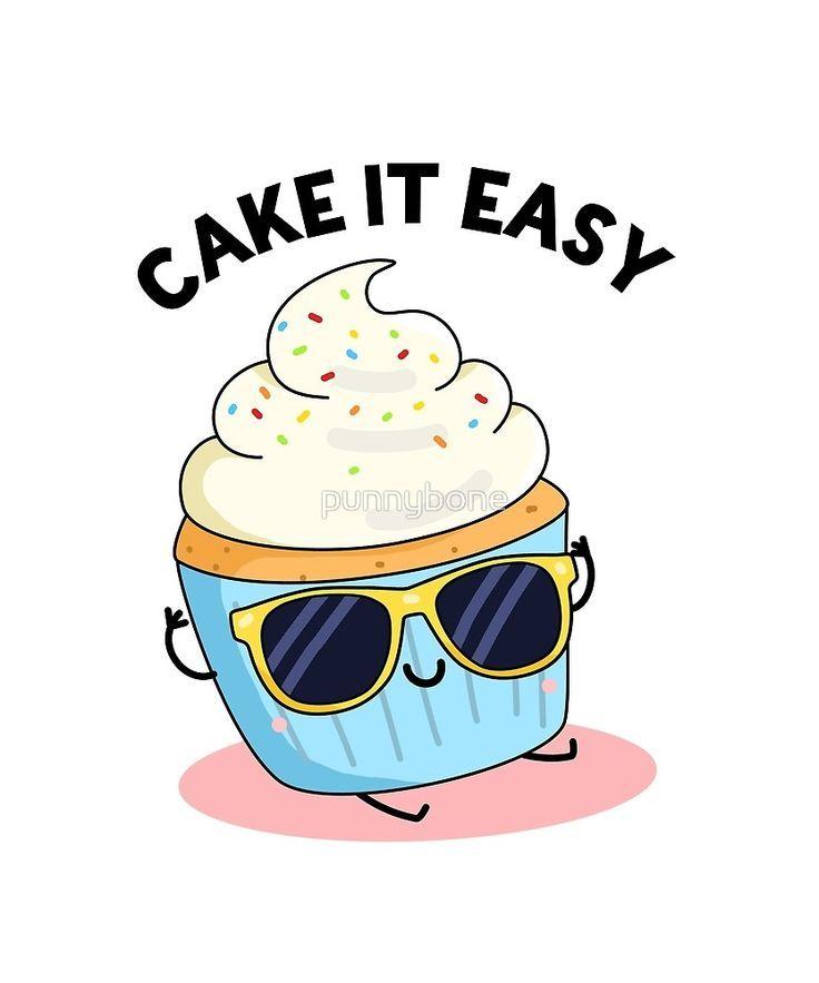 Cake It Easy Food Pun Sticker by punnybone