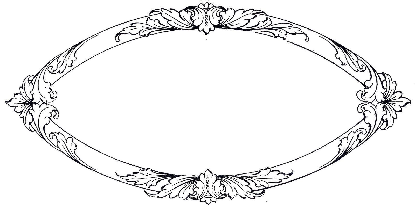 vintage clip art ornate oval frame with scrolls vintage clip art rh pinterest co uk vintage picture frame clipart vintage floral frame clipart