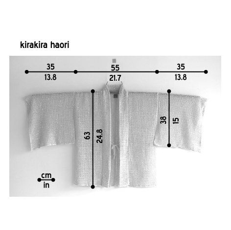 kimono knit cardigan/ kirakira haori by CresusArtisanat on Etsy ...