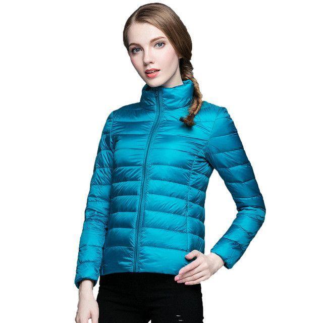 Buy Ultra Light White Duck Down Jacket Women 2016 Sexy Winter Down ...