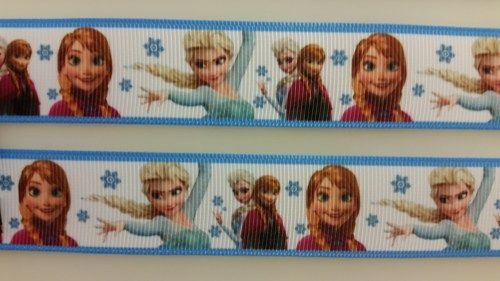 "2 Yds 1"" Frozen Inspired Ribbon 309-3  