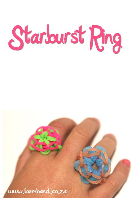 Starburst Ring Loom Bracelet Tutorial Instructions And Videos On