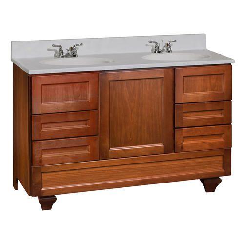 roma series 48 w x 18 d vanity with bottom drawer at menards rh pinterest com