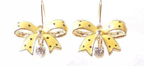 Polka Dot Bow Earrings