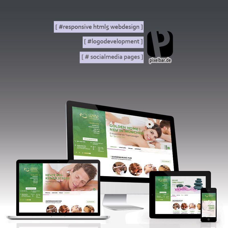 Massage Website Massage Therapy Pin by PIXELbarde