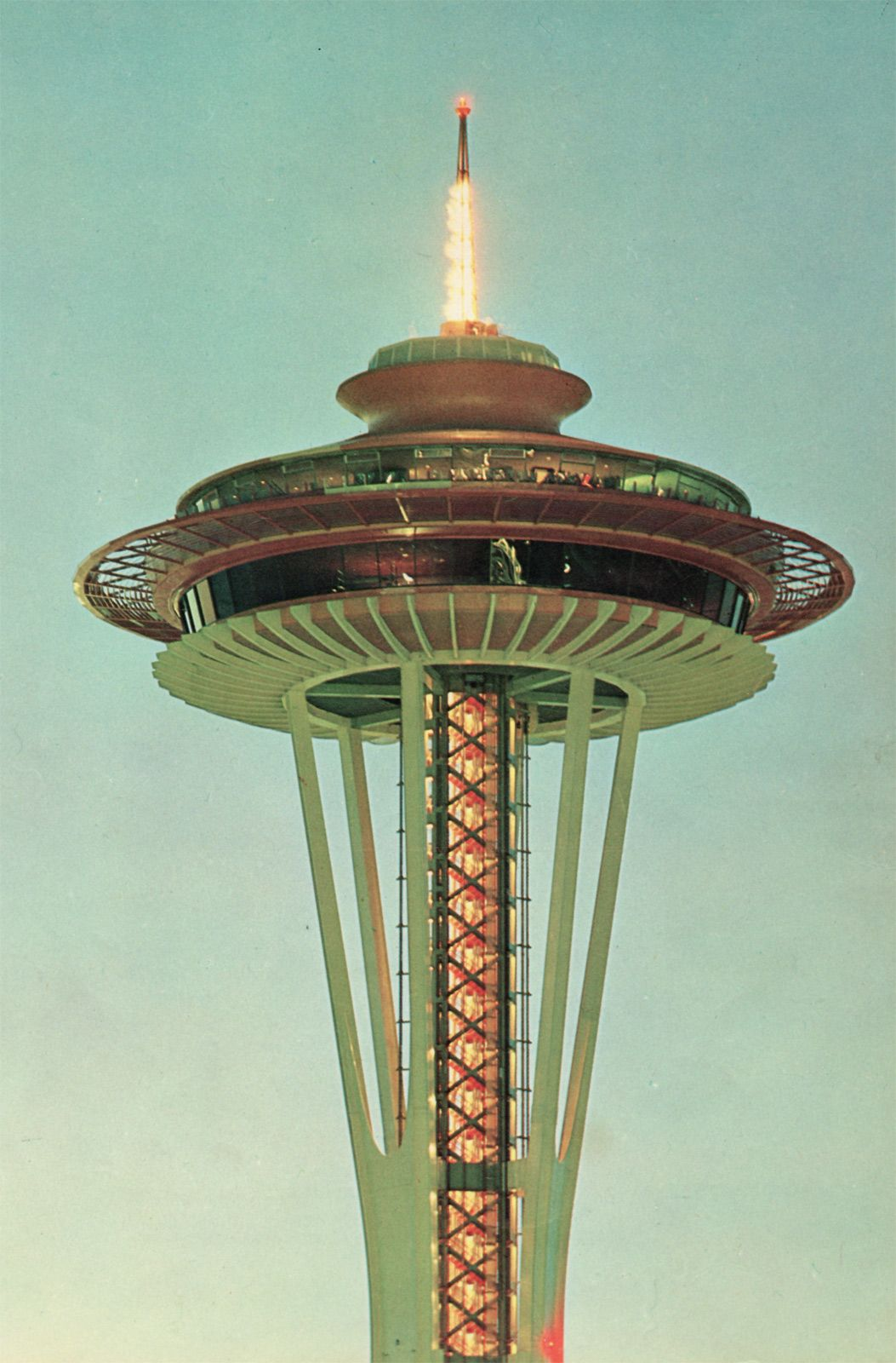 Seattle Map Lake Union%0A photo is of Space Needle  Seattle  WA Rotating restaurant at top  we ate  there before boarding our cruise in August