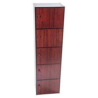 home source 5 shelf bookcase mahogany brown shelves and products rh pinterest nz