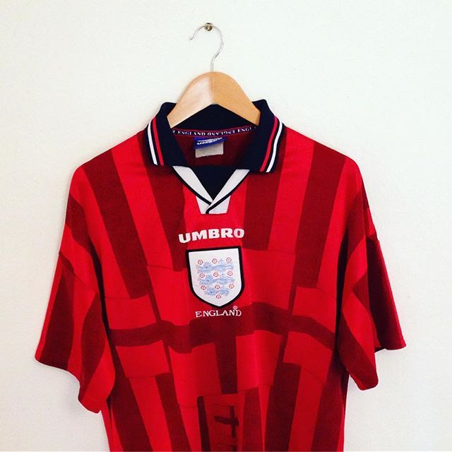 New Addition Umbro England World Cup 98 Away Shirt Available To Buy From Our Store Today Link Is In Our Bio Umbro Vintageumb