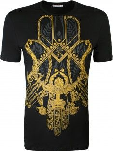 0e3c60ca Versace Collection Baroque Print T-Shirt Black   Best Shirt Designs ...