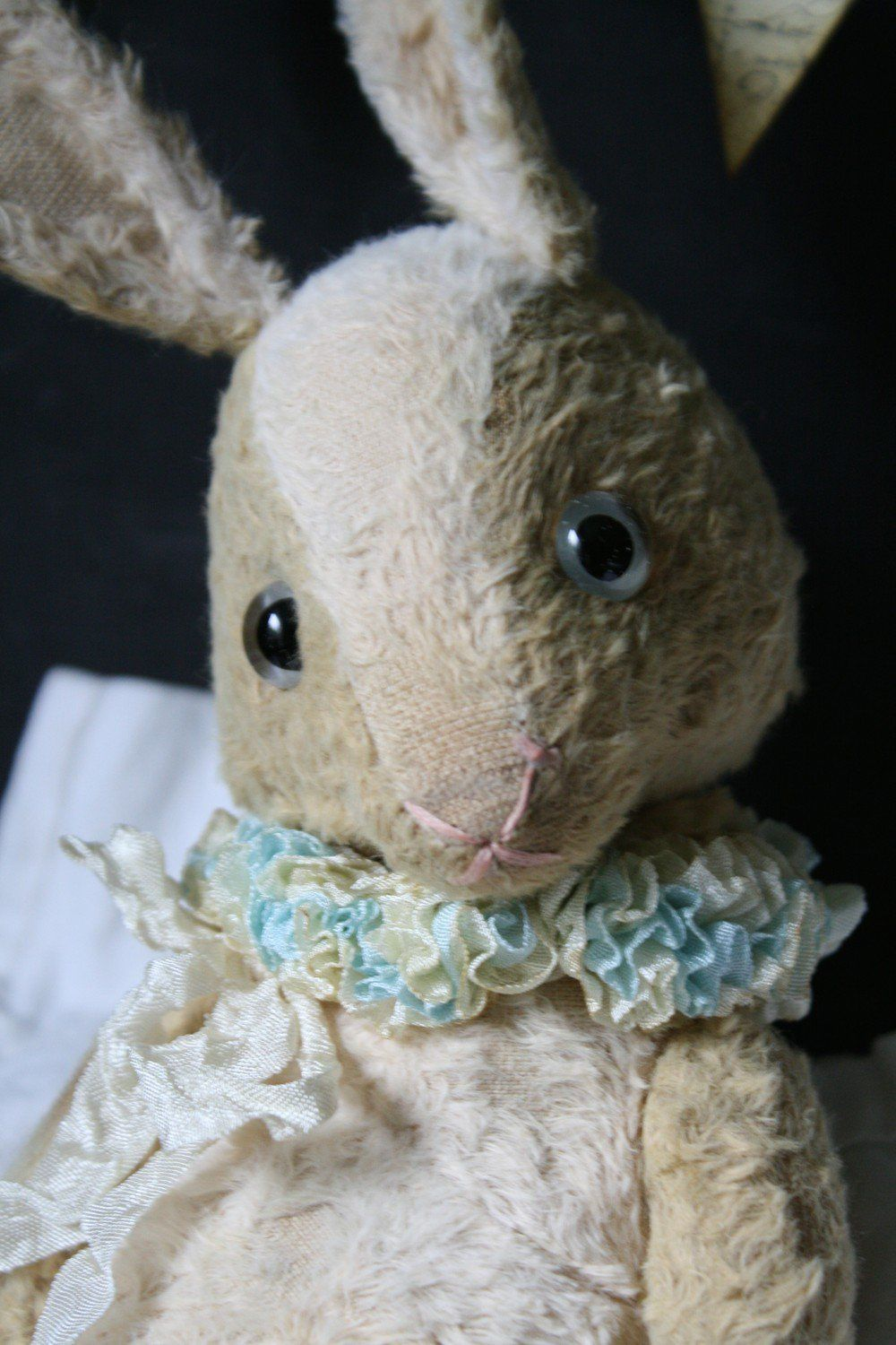 Hug Me Again collectible Blue eyed rabbit by V. Galli. via Hug Me Again Collectibles. Click on the image to see more!