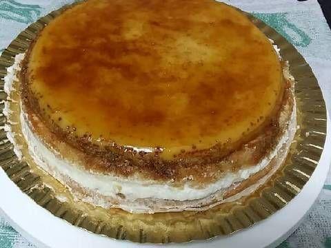 Tarta Tocino De Cielo Bizcocho Nata Y Nueces