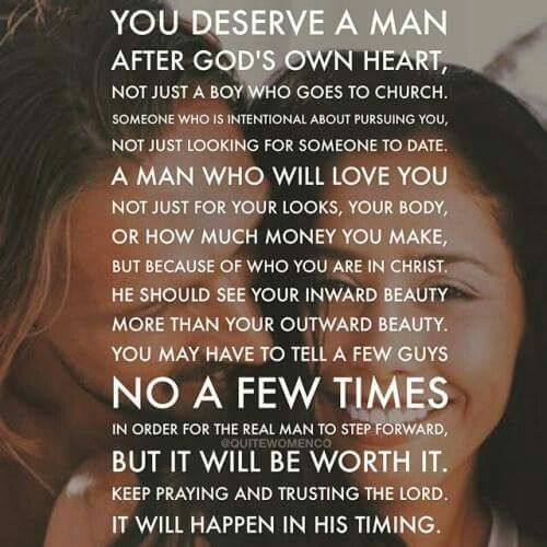 Christian Relationship Quotes Tumblr: You Deserve A Man After God's Own Heart