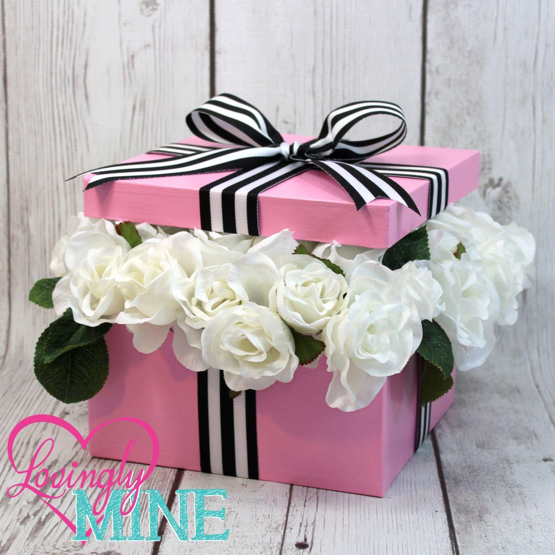 Baby Pink Black u0026 White Stripes White