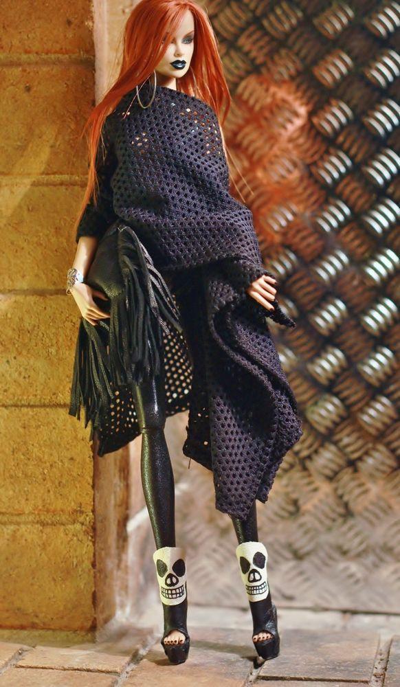 fashion royalty fr2 CI dollsalive Mystic Cat OOAK outfit, shoes ,bag