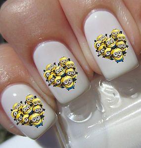 despicable minions nail art